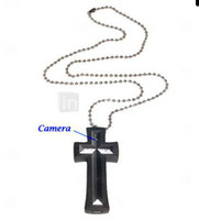 2pcs Cross Necklace Spy Camera with Web Camera (4GB)