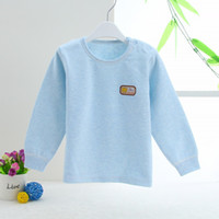Wholesale Baby Colored Cotton Long Coat Round Collar Sleeve Head Open Shoulder Necklines Baby Long Underwear In The Spring And Autumn