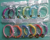 Wholesale 1000pcs DHL Anion Sports Wrist Bracelet Silicon Unisex Watch Waterproof