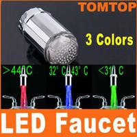 Wholesale Glow LED Water Faucet Tap Temperature Sensor Colors Led faucet H4712