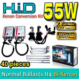 40PCS H4 Hi Lo 12V 55W HID XENON CONVERSION KITS HIGH LOW BI-XENON DUAL NORMAL BALLASTS ALL COLORS
