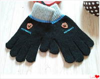 Wholesale 2016 new boutique children s rabbit fur five finger gloves boys primary and secondary students plus velvet solid color points gloves wint