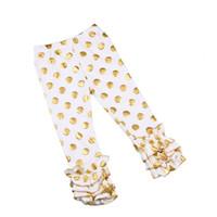 baby polka dot leggings - Girls Mint Gold Polka Dot Ruffle Footless Tights Metallic Gold Polka Girls Triple Ruffle Pants pink baby tights