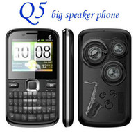Wholesale Q5 sim cards phone quad band tv loud speaker phone sample
