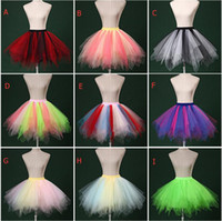 Wholesale Hot Sale Colorful s Vintage Tulle Petticoat Tutu Skirt Cheap Halloween Underskirt For Prom Evening Wedding Price