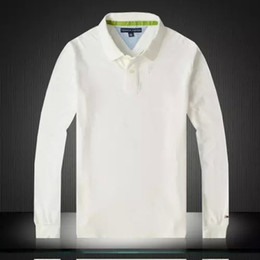 Wholesale New Long Sleeve Solid Mens Clothing White Tee Tops Causal Cotton Top Quality Fashion Outwear Large Size Best Men Clothing
