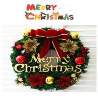 bamboo garland - YUMU Christmas Ornament Xmas Wreath Garland Gifts Hotel Scene Layout Festive Party Supplies Window Door Pendant Gift