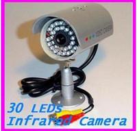 Wholesale 30 LED Waterproof Outdoor IR Night vision CCTV Camera wit Audio surveillance security pc