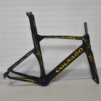 Wholesale 2017 Colnago Concept Black gold painting UD velo bici BICICLETTA Carbon Road Bike cm