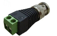 Wholesale Coax CAT5 To Camera CCTV BNC Video Balun Connector to BNC Male Coax Connector CCTV BNC male to termi