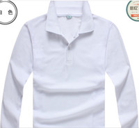 Wholesale The explosion of men s long sleeved POLO shirt cotton polo t shirt grams custom factory