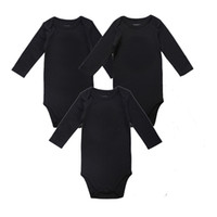 baby place clothes - Unisex Place Baby Girl Boy Clothing Newborn Baby Bodysuit Black Soft Cotton Months Long Sleeve Baby Clothes