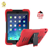 Wholesale Rugged Silicone Cover for Apple iPad Min Air Pro Armor Shockproof Case with Kickstand Screen Protector Hybrid Three Layer