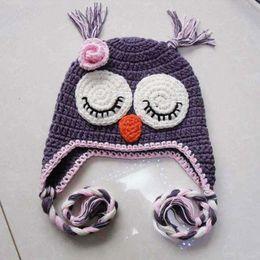 crochet Baby Hat Owl Monkey Chick Hat 15pcs lot Children's Hats Caps knitting hat Free shipping