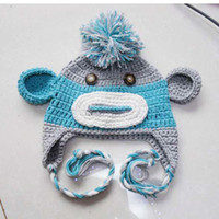 Boy baby monkey cap - OWL crochet baby hat crochet cap monkey hat