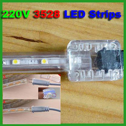 New 100M Roll 220V AC 3528 Waterproof IP67 Flexible LED Strip Lights 60lights m Dont need Power Supply