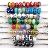 Wholesale 120x New Fashion Bulk Mixed Charms Lampwork Bead Fit Bracelet