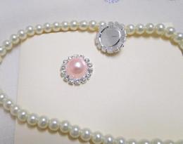 50pcs wholesalePink Pearl Flatback Wedding Favour Box Decor Scrapbook A-Grade Rhinestone Cluster DIY