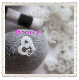 Wholesale RC D Resin Crystal Glitter Heart Decoration bag Lovely Outlooking Nail Art Decorations