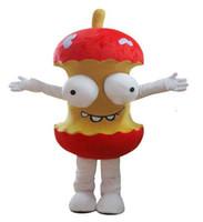 Mascot Costumes animated apples - 2017 High Quality EVA Material Helmet Animated cartoon humor apple mascot costume Christmas Halloween adult clothes EMS