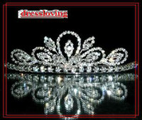Crown Rhinestone/Crystal  Best sell New Wedding crowns Accessories charm Bridal crystal veil tiara crown headband