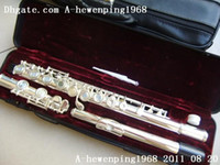 Wholesale New S OPEN HOLE Silver Flute hot sale SILVER DOUBLE CASE