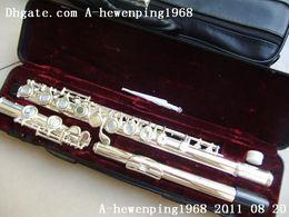 Wholesale - 2011 New 271S OPEN HOLE Silver Flute hot sale( SILVER DOUBLE CASE
