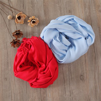 Wholesale Fashionable women bamboo fiber plain scarf