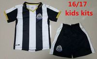Wholesale kids Newcastle United Jersey kits Home SISSOKO GOUFFRAN PEREZ CISSE COLOCCINI COLBACK Football Shirts Thai Quality Jeresys