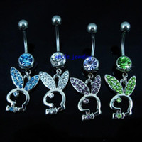 Women's animal belly button - 0255 Belly Button Navel Rings Body Piercing Jewelry Dangle Accessories Fashion Charm JFB MIX COLORS