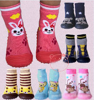 Wholesale Baby shoes socks Non slip socks baby socks children home socks trade flooring rubber soled C