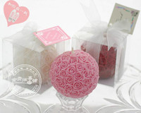 Wholesale Up to Off Rose Flower Ball Candle Favrors for Wedding Birthday Party Novelty