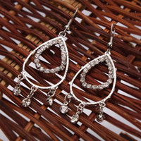 Wholesale Big Water Drop Earrings Exquisite Workmanship Charming pairs S00183