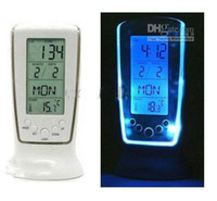Digital   Digital Thermometer Clock LCD Alarm Calendar LED Backlight Desktop weather station Clocks #OT265