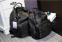 Wholesale 2017 Korean version of the explosion of rivets shoulder bag fashion handbags travel backpack