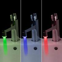 Brass LED Faucet - Mini Copper Glow LED Water Stream Faucet Tap Temperature Sensor led Faucet Color H4720