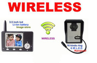 Wholesale Wireless Color Video Door Phone Intercom Doorbell inch GHz with Rain Shield e_shop2008