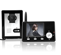 Wholesale Wireless Color Video Door Phone Intercom Doorbell inch GHz Monitor Camera e_shop2008