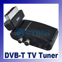 Wholesale Digital DVB T TV Box Tuner Infrared Receiver VOFDM Demodulator Remove Control AC Power Adapter