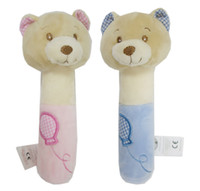Wholesale UK Brand Snuggle Baby Nursery Time Lovely Cute Fashion Soft Polyester Bear Squeaker Gift Set Toys Doll Boys Girls