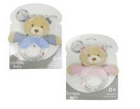 Wholesale UK Brand Snuggle Baby Nursery Time Lovely Cute Fashion Soft Polyester Asst Cute Bear Rattles Toys Doll Boys Girls Handy Easy Carry