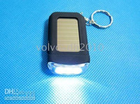 Wholesale 10pcs Solar Panel Energy LED Flashlight Lamp Keyring LED flash Light
