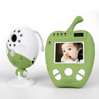 Wholesale Color Video Camera Wireless Baby Monitor inch Digital LCD Night Vision Apple Shape e_shop2008