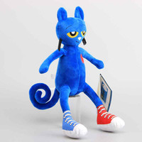 animal doll maker - Hot New arrive Pete the cat plush kids toys high quality blue Merry Makers Stuffed dolls cm