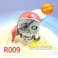Wholesale Pirate skull alloy ring crystal rings men s alloy ring assorted styles