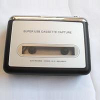 Wholesale hot selling Tape to PC Super USB Cassette to MP3 Converter USB portable Cassette Capture Recorder New