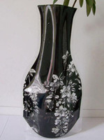 Wholesale Home Decoration PVC Vase Plastic Folding Vase Medium Flower Pots pattern optional