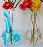 Wholesale Fashion folding Vase plastic Vase Large PVC Vase Home Decoration Gift