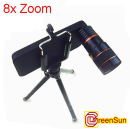 8x Zoom Telescope Camera Lens with Mobile Stand Case For iPhone 4G 4 3G
