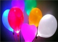 New Christmas LED Flashing Balloon Lights, Latex blinking ba...